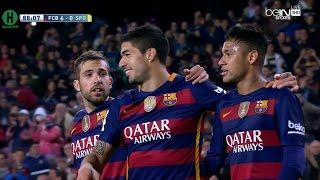 اهداف مبارة برشلونة و  سبورتينغ خيخون 6-0 الدوري الإسباني 23-4-2016