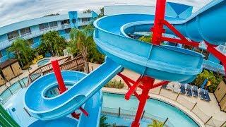 Flamingo Waterpark Resort - Blue Waterslide Onride POV
