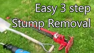 Tree Stump removal with 3 simple tools.