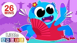 Itsy BItsy Spider Learns New Languages, Humpty Dumpty, Ants in my Pants | Kids Songs by Little Angel