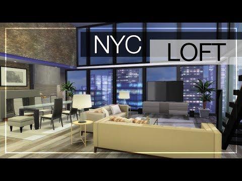 NYC LOFT + CC LINKS | The Sims 4 Luxury Loft Build