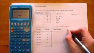 Comment calculer les principaux indicateurs statistiques sur une Casio graph 25+ pro ?