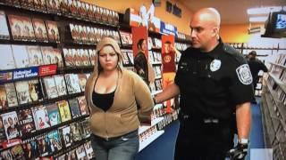 Arrested stealing DVDs at Blockbuster Video!