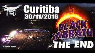Black Sabbath THE END em Curitiba 30/11/2016 - drone (4k)