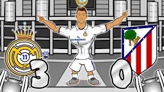 3-0! Real Madrid vs Atletico Madrid - RONALDO HAT-TRICK! (UEFA Champions League Semi-Final Parody)