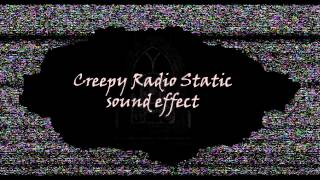 Creepy Radio Static sound effect (with breathing)