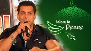 ISLAM Means PEACE, Says Salman Khan To Religious Protestors