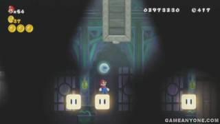 New Super Mario Bros. Wii Walkthrough - Part 52: World 5-Ghost House (Both Exits) [HD]