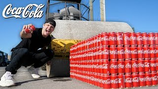 Can 1,000 Cans Of Coke Stop A Steam Roller??