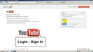 How to login to Youtube - sign in Free & Easy
