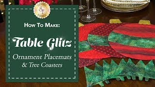 How to Make Ornament Placemats & Christmas Tree Coasters | a Shabby Fabrics Sewing Tutorial