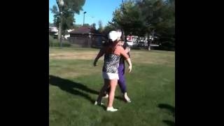 Little short step-mom gets in a fight