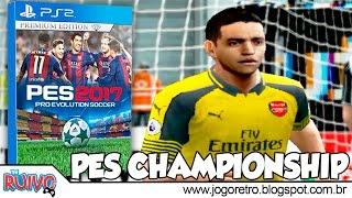 Pro Evolution Soccer 2017 (PES CHAMPIONSHIP 2017 Versão 3.1) no Playstation 2