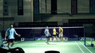LCW 3 v 1 training with Chong wei feng and 2 others at Sydney Exhibition centre