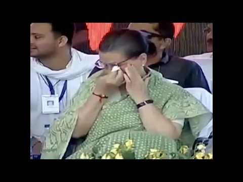 जब हंसते हंसते Sonia gandhi की आंख में आये आंसू।