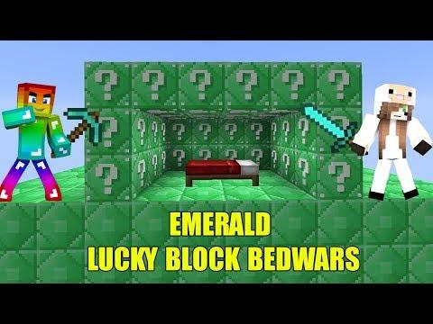 MINI GAME EMERALD LUCKY BLOCK BEDWARS THỬ THÁCH CHIẾN THẮNG CỪU TRONG MINI GAME MINECRAFT