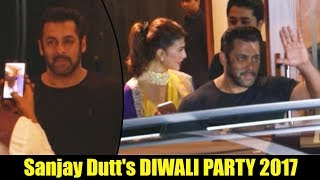 Salman Khan ATTEND Sanjay Dutt's Diwali Party 2017