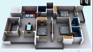 3D Walkthrough Apartment Interior