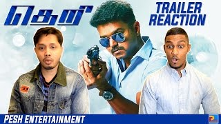 Theri Trailer Reaction & Review | Vijay | English Subtitles | PESH Entertainment