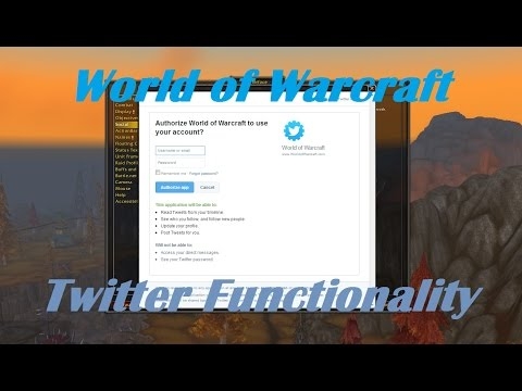 World Of Warcraft - Twitter Functionality Preview!