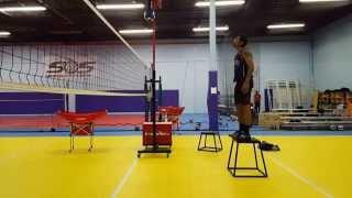 Volleyball training ( Middle Blocker )