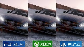 [4K/60FPS] PROJECT CARS 2 - PS4 Pro vs PS4 vs Xbox One Graphics Comparison