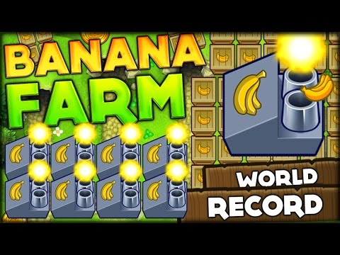 BEATING THE WORLD RECORD FOR THE MOST BANANA FACTORIES IN BLOONS TD 5 Bloons Tower Defense 5