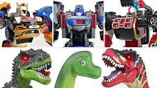 Movie Tobot Tritan, Tobot Athlon Magma 6 and Metron! Rescue the dinosaurs together! - DuDuPopTOY