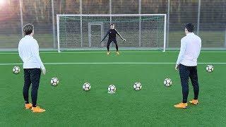 freekickerz vs Kingsley Coman (FC Bayern Munich) - Penalty Football Challenge