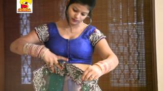 how to wear a bridal saree perfectly   Hot Bhabhi's navel show