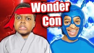 We Met KARATE KID and The TICK! (WonderCon Vlog) - Onyx Family