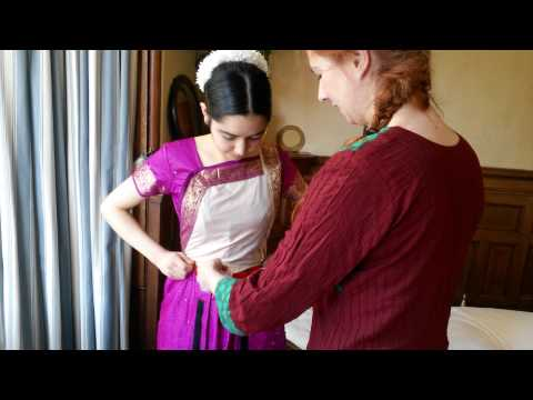 How to wear Bharatanatyam costume (video tutorial)