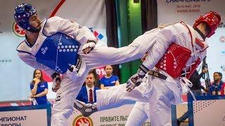 Milad Beigi (AZE) vs Karol Holubowicz (POL). European Taekwondo Championships Kazan-2018