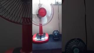 Comparison between electric fan and charger fan