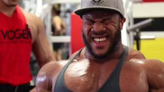 Phil Heath and Jeremy Buendia Back workout 10 weeks out from the 2016 Mr  Olympia