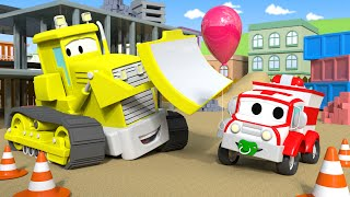 Billy The Bulldozer is sick ! - Amber the Ambulance in Car City 🚓 🚒 l Cartoons for Children