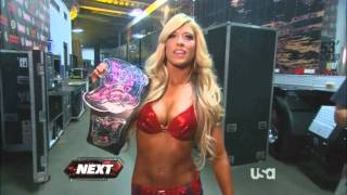 Kelly Kelly walks to the ring looking hot as hell