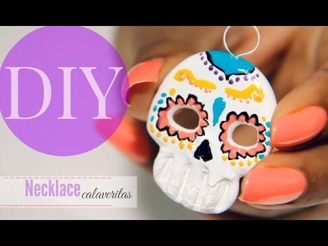 DIY Necklace calaveritas dia de Muertos MaryTó Chocolate