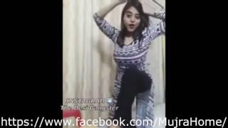 Desi Pakistani girl dancing in home