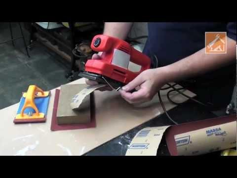 Como lixar paredes manual e elétrico
