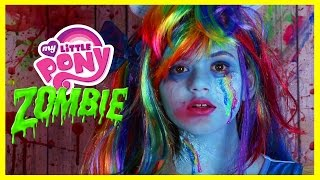 ZOMBIE MY LITTLE PONY RAINBOW DASH MAKEUP TUTORIAL! Equestria Doll Cosplay Halloween | KITTIESMAMA