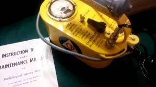 Chatham Electronics CDV 700 Model #3 Geiger counter