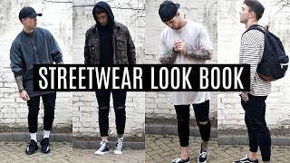 STREETWEAR LOOKBOOK | FOUR OUTFIT IDEAS | MENS FASHION 2017