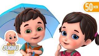 Barish Aayi Cham Cham Cham | hindi nursery rhyme for Children by Jugnu Kids