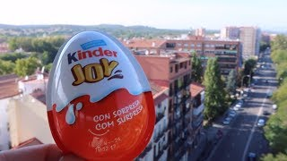 Kinder Joy Egg Above the City Opening - Playground cool Slides