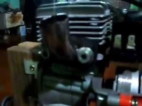 Motor de roçadeira 26cc adaptado para aeromodelo