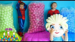Funny Children Playing with Balls and Toys Video for kids