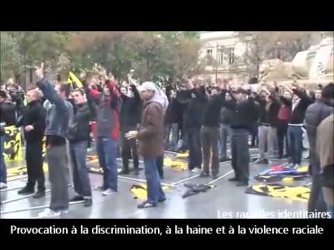 Paris l extreme droite dans la rue. Marine Le Pen les FN homophobes islamophobes et antisémites.