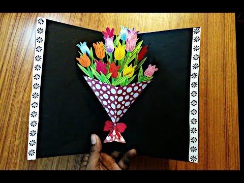Xxx Mp4 DIY Flower Bouquet Pop Up Card Paper Crafts Handmade Craft Mother's Day Card 3gp Sex