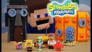 Spongebob Squarepants Bikini Bottom Playset House Mega bloks Action figures Fisher Price Unboxing
